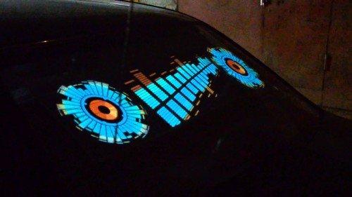 установка эквалайзера на заднее стекло автомобиля